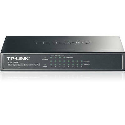 TP-Link Network TL-SG1008P 8Port Gigabit Desktop Switch with 4Port PoE