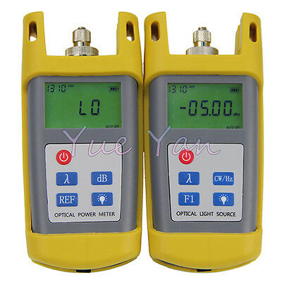 Fiber Optic Tester Tool Optical Power Meter Optical Fiber Light Source FC SC