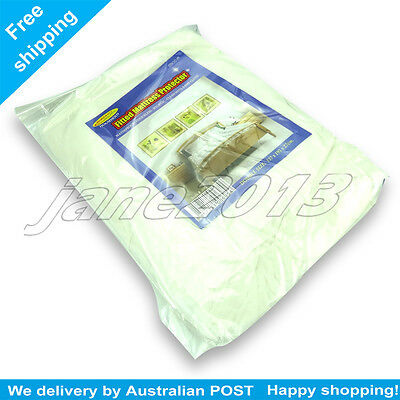 2X Waterproof Double Mattress Protector Cover Fitted Plastic Sheet Bed AU STOCK