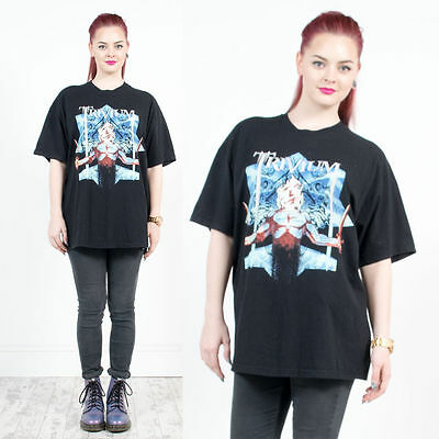 Womens Retro Trivium Heavy Metal Usa Rock Bank Oversized Tshirt 16