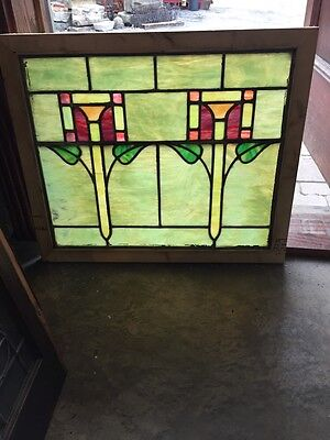 Sg 388 Antique Arts And Crafts Stainglass Window