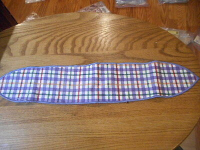 Longaberger Blueberry Plaid Fabric Handle Tie