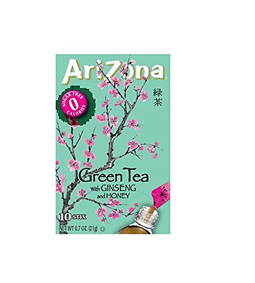 Arizona Sugar Free Iced Green Tea with Ginseng, Low Calorie, Diabetic, Low Carb