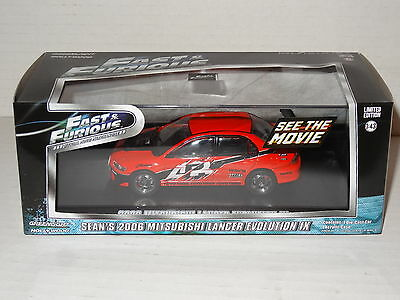 Greenlight Sean's 2006 Mitsubishi Lancer Evolution 1X Fast & Furious 1:43 86213