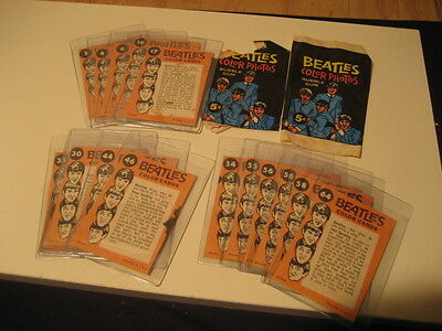 The Beatles Topps Color Trading Cards (16)w//2 wrappers