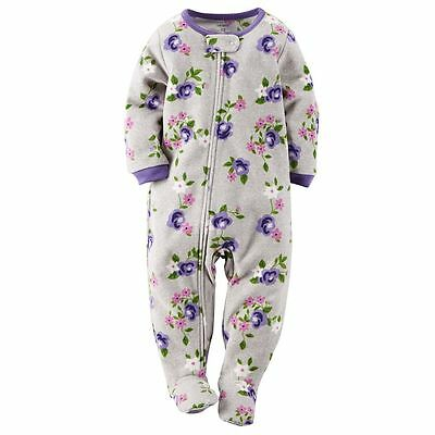 Carter's NWT 3T 4T Infant Toddler Girl PJ Footed Pajama Sleeper