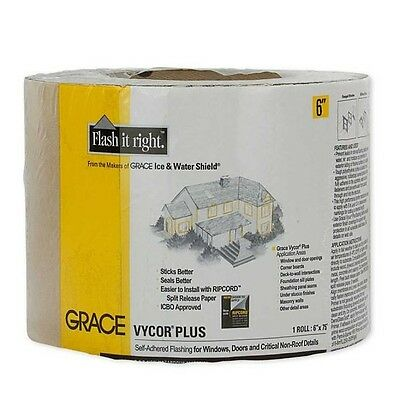 Grace Vycor Plus Self-Adhered Flashing Tape - 6 x 75'""