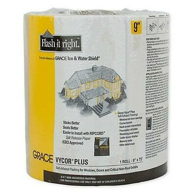 "Grace Vycor Plus Self-Adhered Flashing Tape - 9"" x 75'"