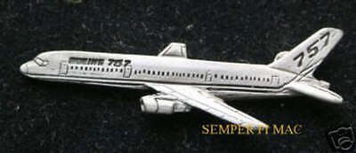 757Jet Liner Pewter Hat Pin Commercial Airplane B-757