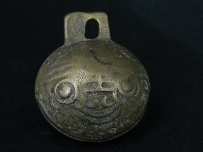 Ancient Bronze Tiger Bell 1800 AD  #B1577
