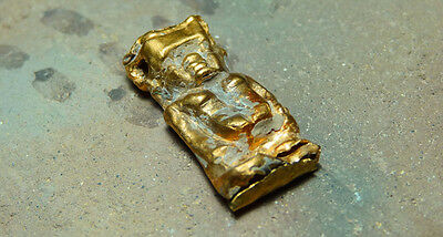 Ancient Gold Pendant Pataek God Of Protection Egyptian Late Period 716-30 Bc