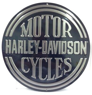 Ande Rooney HARLEY DAVIDSON PLATINUM DISC Tin HD Motorcycle Man Cave Sign NEW