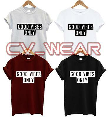 b1464066 Good Vibes Only T Shirt Tee Tshirt Funny Quote Food Tumblr Hipster Unisex