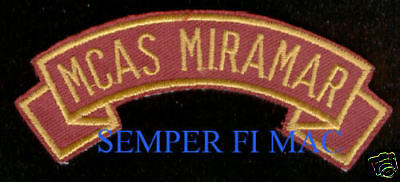 Mcas Miramar Tab Hat Jacket Patch Us Marines Veteran Pin Up Usmc Gift Wow