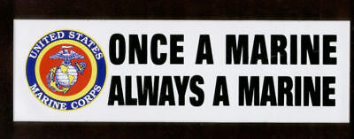 Once A Marine Always A Marine Bumper Sticker Us Marines Pin Up Gift Zap Decal