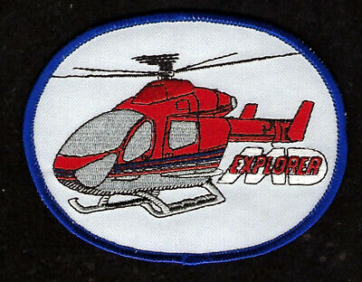 """Airwolf Helicopter 4"""" Patch Tv Movie Ernest Borgnine Stealth Bell 222 Pilot Wing"""