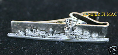 USS McNair DD-679 TIE BAR PIN WOW DESTROYER  SILVER COATED