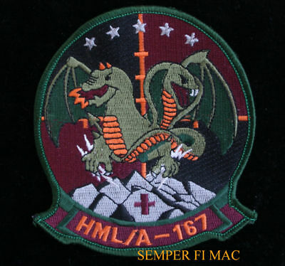 HMLA-167 WARRIORS PATCH US Marines Light Attack Helicopter Squadron PIN UP GIFT