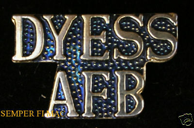 Authentic Dyess Afb Tx Script Hat Pin Us Air Force