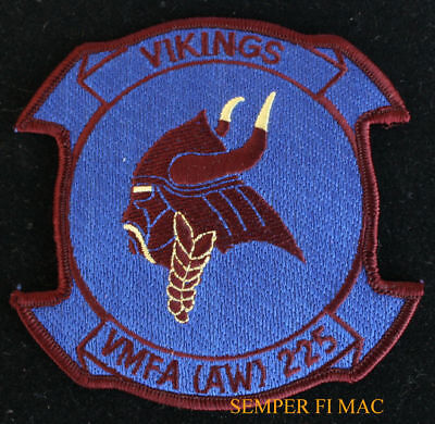Vmfa (Aw)-225 Vikings Patch Us Marine Corps 3D Maw Pin Up Pilot Crew Usmc Wow