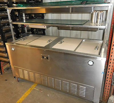 Food Serving Cart, Hot and Cold, Carter Hoffman FSHR68, Heated and Refrigerated