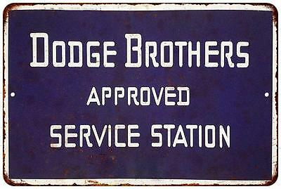 Dodge Bros. Approved Service Vintage Blue Reproduction 8x12 Metal Sign 8122205