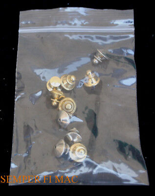 10 Locking Deluxe Crome Metal Clutch Pin Backs Us Air Force Tie Tac Usaf Pin Up