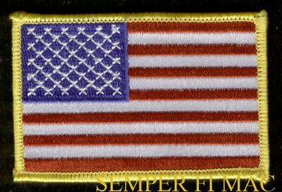 Shoulder/jacket Size Us Flag Usa Badge Embroidered Patch Patriotic Usa Wow L@@k