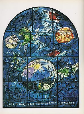"""1988 Vintage MARC CHAGALL /""""LEVI/"""" FINISHED WINDOW COLOR Art Print Lithograph"""