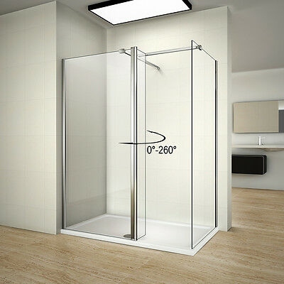 Walk In Wet Room Shower Enclosure Screen Cubicle Side Panel Stone Tray Waste