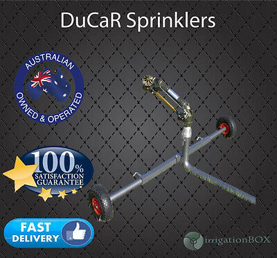 "DuCaR JET35T Gear Drive Sprinkler with 2"" wheeled cart (extendable legs) + QC"