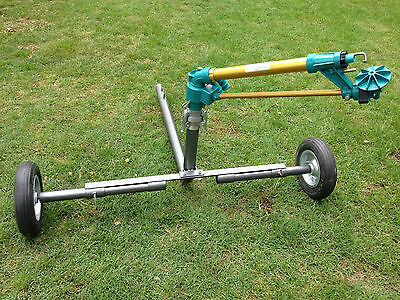 "DuCaR JET50 - Gear Drive Sprinkler with 2"" wheeled cart (extendable legs) + QC"