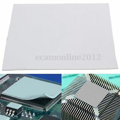 100X100mm Thermal Heatsink Transfer Cooling Pad 1mm Double Sided Adhesive Grey