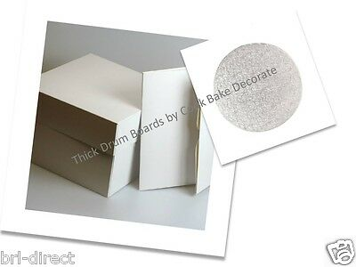Cake Board and Box Set For Birthday Wedding Christmas Cakes - Thick Drum
