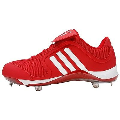 Men s Adidas Excelsior Low Metal Baseball Cleats Spikes Red White Size 15 532414e8e1e9
