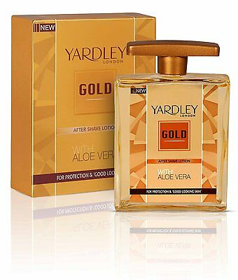 Yardley Gold Fresh New Aftershave Lotion with ALOE VERA - 50ml