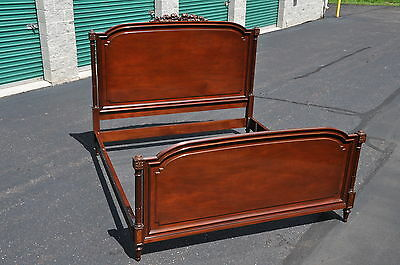 Karges Louis XVI Style Mahogany King Size Bed