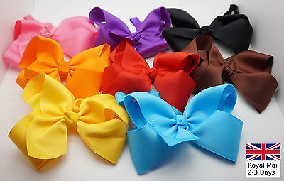 16cm Newborn Baby Girls Grosgrain Ribbon Hair Bow Soft Elastic Hairband Headband