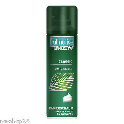 (16,47€/L) 300ml Palmolive Rasierschaum for Men CLASSIC mit Palm Extract Mousse