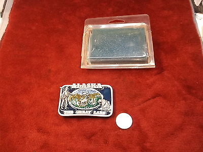 "Nice, Nos Mint Condition ""Siskiyou"" Pewter ""Alaska, The Great Land"" Belt Buckle"