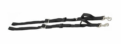 Zilco Webbing side reins snap clips Adjustable rokko buckles Horse Training blk