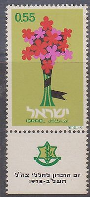 (JY36) 1972 Israel 55A Memorial Day MUH