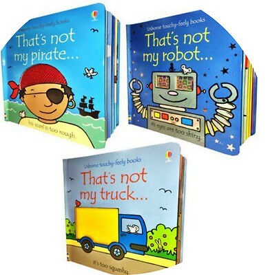 Brand New Thats Not My.. robot • pirate • truck- 3 x Touchy Book Set By Usborne