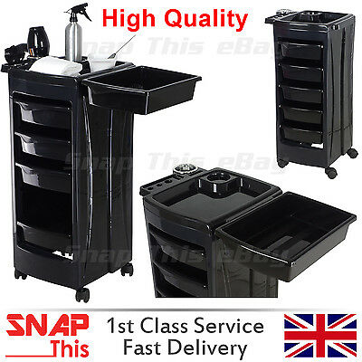Salon Hairdresser Beauty Storage Trolley Colouring Hair Barber Drawers Spa Cart