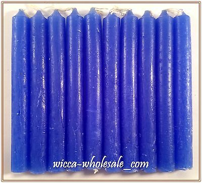 """10 BLUE MINI 4"""" CANDLE MAGICK CANDLES (Spell Altar Chime Wicca Pagan Ritual)"""