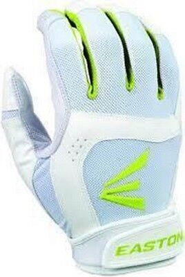 1 Pair Stealth Core Easton Fastpitch Women's Large White / Optic Batting Gloves