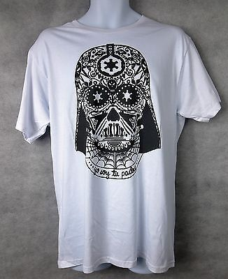 Star Wars Officially Licensed Mens T-Shirt  Vader Day of the Dead Athletic Fit