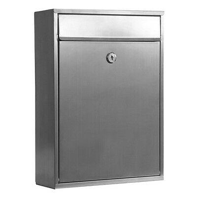 MILKCAN - WALL MOUNT LETTERBOX - WB52 Mailbox 304 Stainless - Key Lock