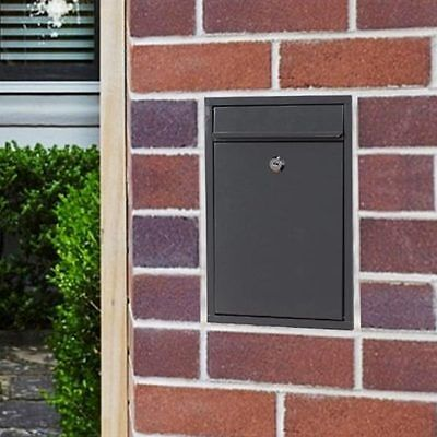 MILKCAN - Charcoal WALL MOUNT WB51 LETTERBOX - Mailbox Powder coated Steel