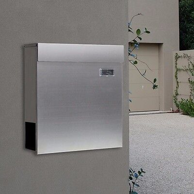 Milkcan WB57  304 Stainless Wall Mount Letterbox Wallbox Mailbox Fence Brick